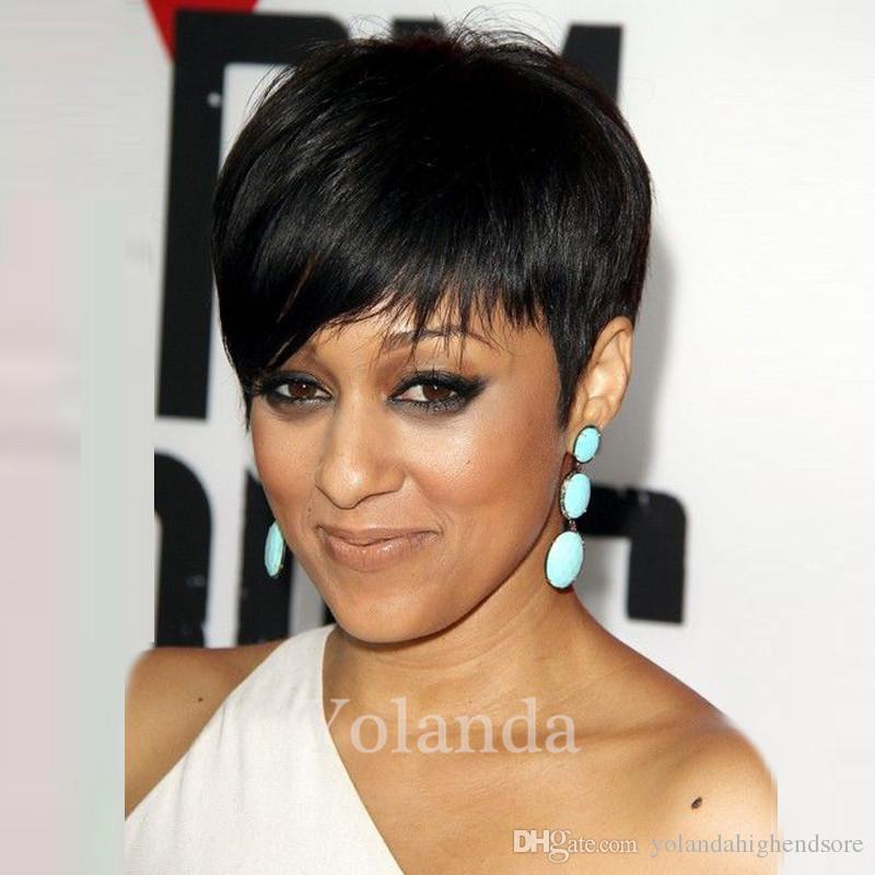 2017 New Pixie Cut Cheap Human Hair Wig Rihanna