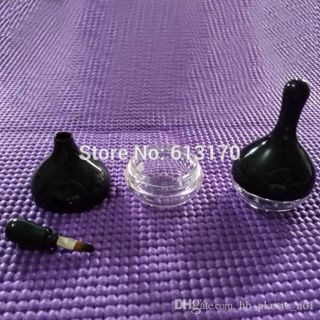 Yeni Varış 10g Boş Dudak parlatıcısı jel şişe fırça aplikatör ile Kadınlar için Yağmur Damlası tipi göz farı Şişeler erkekler ücretsiz kargo