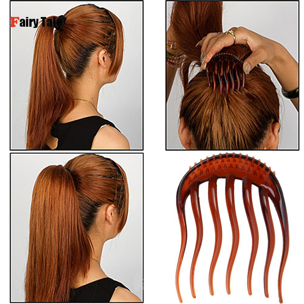 Wholesale- 2Pcs/Colors Inserts Hair Clips Princess Bumpits Bouffant Ponytail Hair Combs Hairpin hairband hair style tool accessories