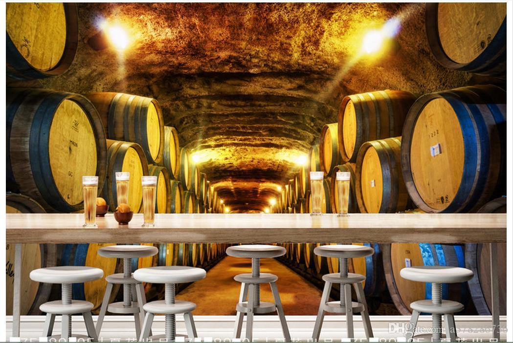 Compre Alta Calidad Personalizada 3d Foto Wallpaper Murales Papel De Pared De La Vendimia Europea Retro Bodega Bar Con Un Fondo De Pared De La
