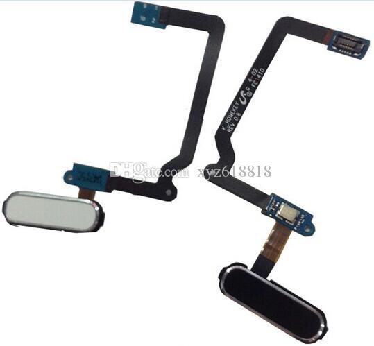 Orijinal Yeni Yedek Ana Düğme Menü Tuş Parmak Izi Sensörü Flex Kablo Samsung Galaxy S5 i9600 G900A G900V G900F Beyaz Siyah Altın