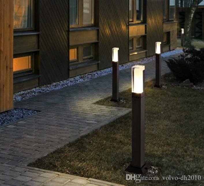 Jardín del LED enciende la lámpara del césped 5W IP65 lámparas LED 85-265V césped de aluminio lámparas Accesorios al aire libre Jardín Baliza LLFA luz