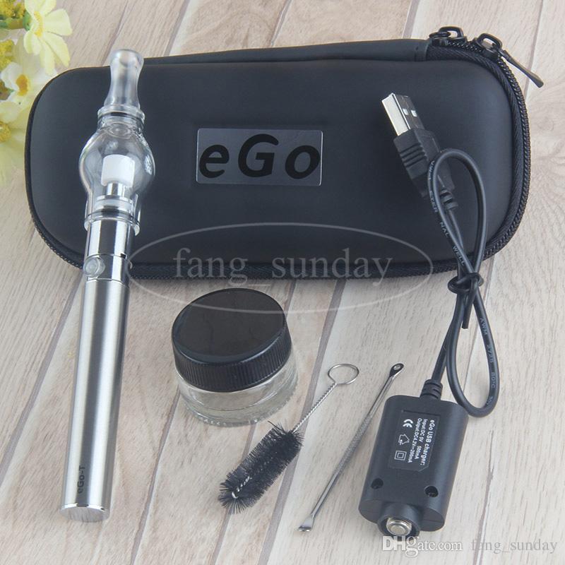 EGO T Wax Glass Globe Vape Pens Starter Kit Zipper Case Pack Wholesale 650mah 900mah 1100mah Vaporizer Battery Dab Dome Tank e cigs
