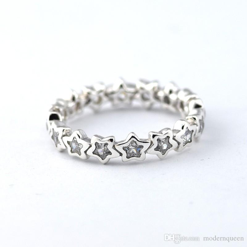 anello con stella pandora