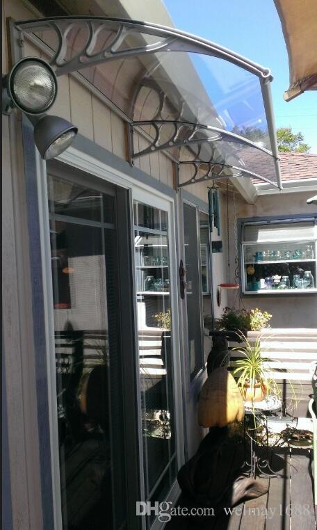 DS100200-P, 100x200 CM, toldo de toldo de policarbonato de alta calidad para ventanas de puertas de casa