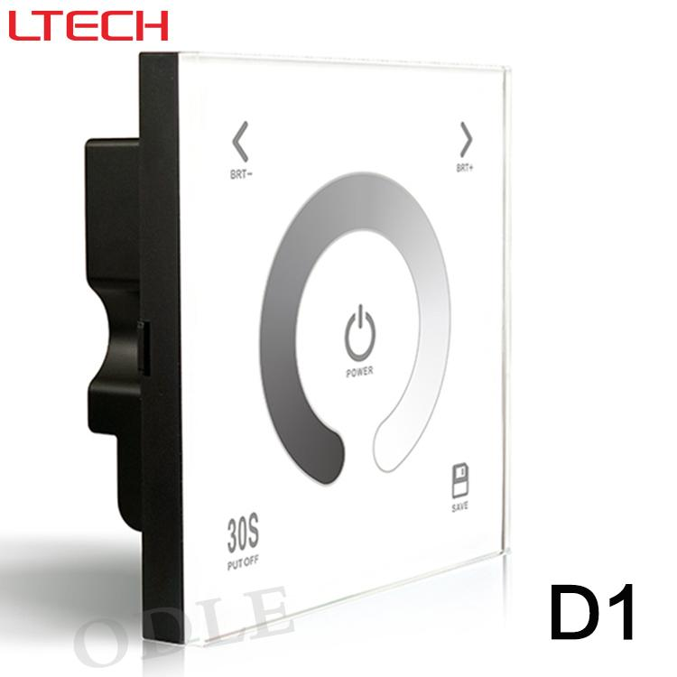 Free shipping D1 Touch Led Controller DC12-24V 4A*3CH output Glass Wall Mount Touch Panel LED Dimmer Lighting Controller