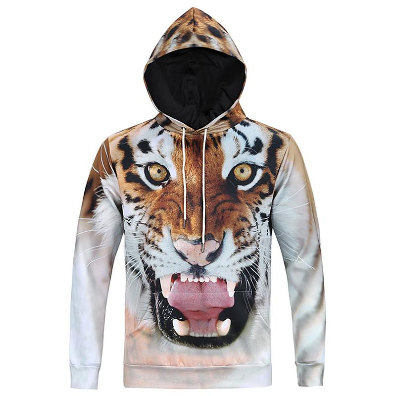 All'ingrosso- Mr.1991INCMiss.GO 2016 Autunno uomo 3D Animal Print Felpe con cappuccio Hip Hop Tiger Felpa da uomo Assassins Creed Felpa con cappuccio Streetwear