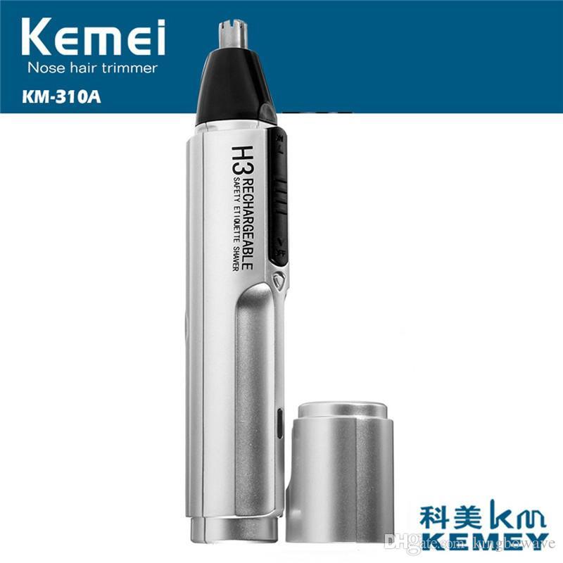 Kemei KM-310A Uomo Naso elettrico ricaricabile Ear Face Neck Sopracciglio Capelli baffi Beard Trimmer Shaver Clipper