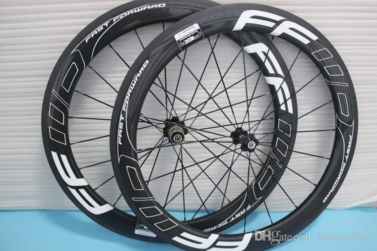 شعبية بيع الكربون عجلات 60MM العجلات سحب مباشرة محاور Powerway R36 الكربون الكربون كامل عجلات دراجة الطريق الدراجة أسود أبيض سفينة حر