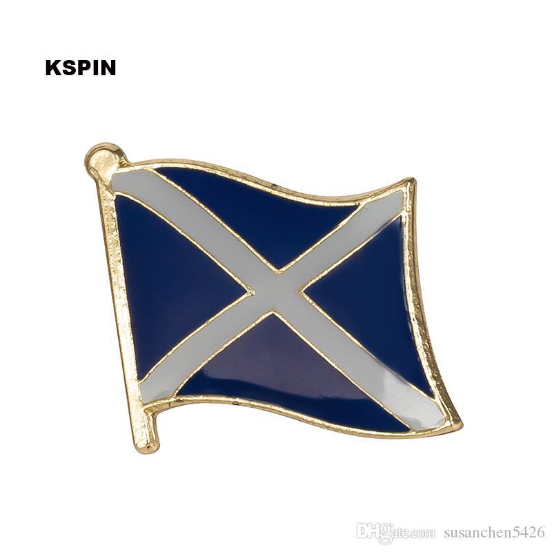 Spedizione gratuita SCOTLAND Metal Flag Badge Flag Pin KS-0241