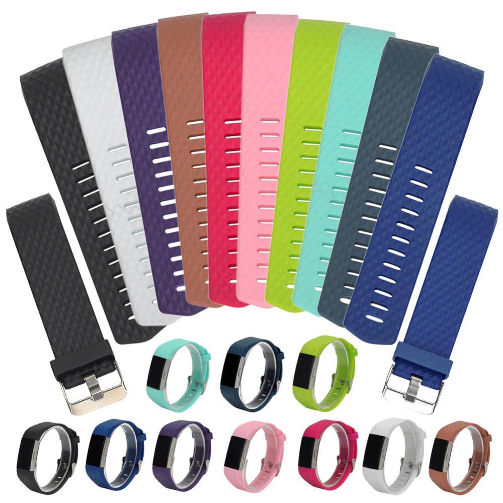 Bracelet de montre en silicone de remplacement pour bracelet en silicone de remplacement pour charge Fitbit, charge de 2 bandes et fréquence cardiaque intelligente de DHL