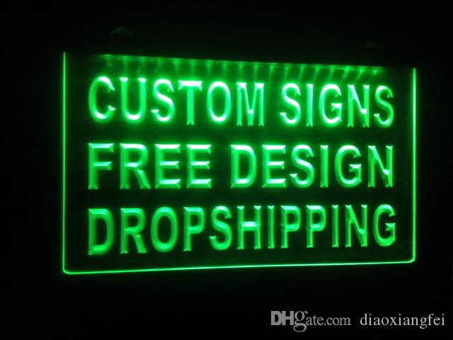 design your own custom Light sign hang sign home decor shop sign home decor