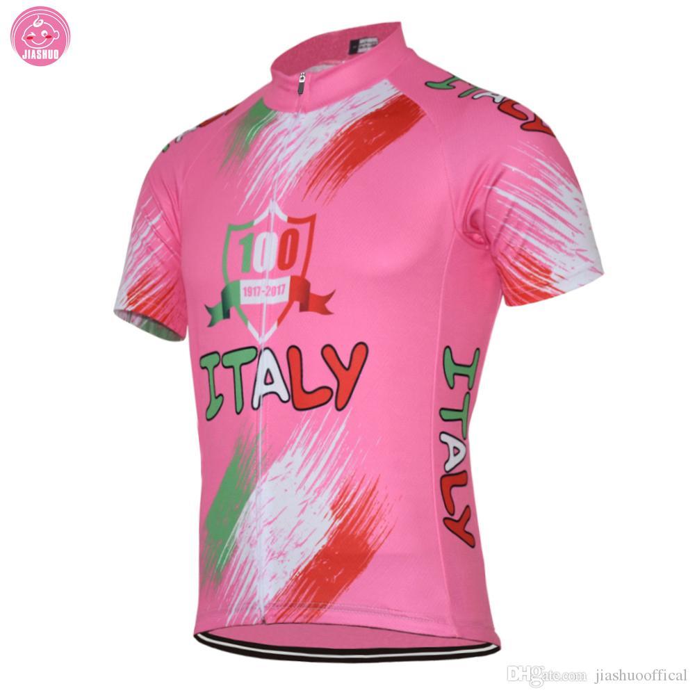 Personalizzato NUOVO 2017 ITALIA Italia 100 anni Colori Classici JIASHUO mtb road RACING Team Bike Pro Cycling Jersey / Camicie Top Traspirante