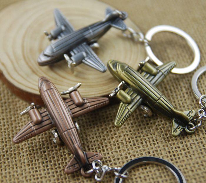 Metal Small Plane Key Chain Keychain Keyring Ring 3D Plane Model Aircraft Keyfob Battleplane Fighter Plane Key Holder Airplane C14L