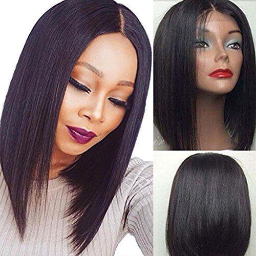 Dora 18 pollici Top qualità parrucca glueless taglio corto parrucca capelli umani peruviana vergine capelli parrucche piene del merletto Bob per donna nera