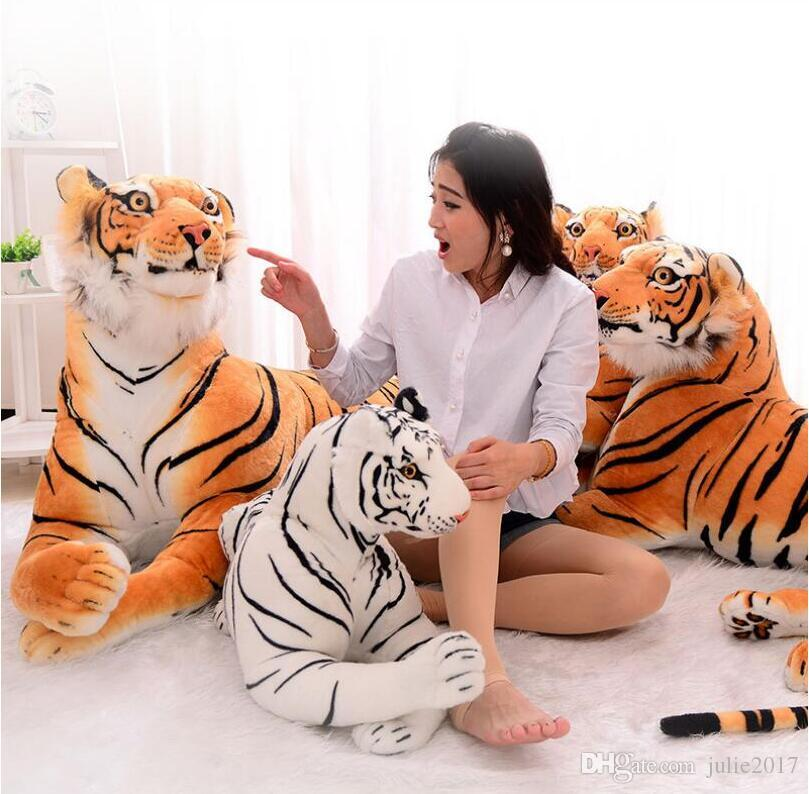 Hot Sale 3D Simulation Tiger Plush Toys Sitting Tiger Soft Toys White / Black Tiger Stuffed Animal For Children Birthday Gift