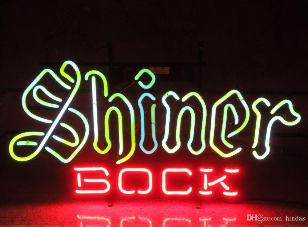 Neonlicht-Zeichen. LED-Zeichen LED-Lampe LIEBES Neon Bier Sign Bar home Neuer Shiner Bock-Bier Texas Handmade-Neonzeichen