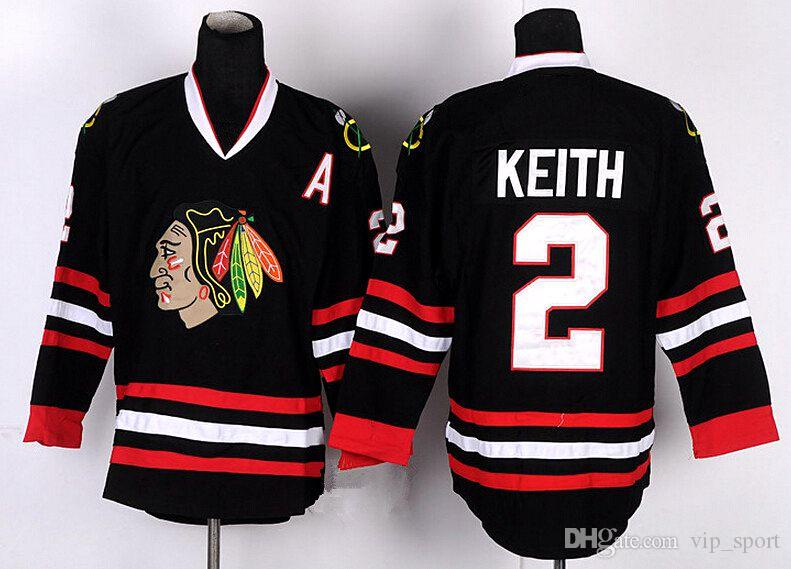 e509f0b97 ... Chicago Blackhawks 2 Duncan Keith Jersey Throwback Winter Classic Skull Duncan  Keith Hockey Jerseys Stitched Black ...
