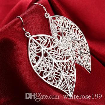 Groothandel - laagste prijs kerstcadeau 925 sterling zilveren mode oorbellen E128