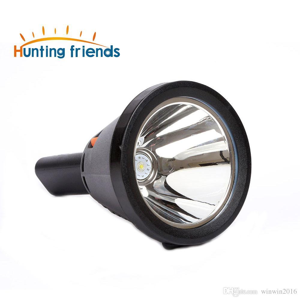 12 pçs / lote amigos de caça poderosa lanterna led portátil 18650 tocha bateria de lítio à prova d 'água recarregável lanterna