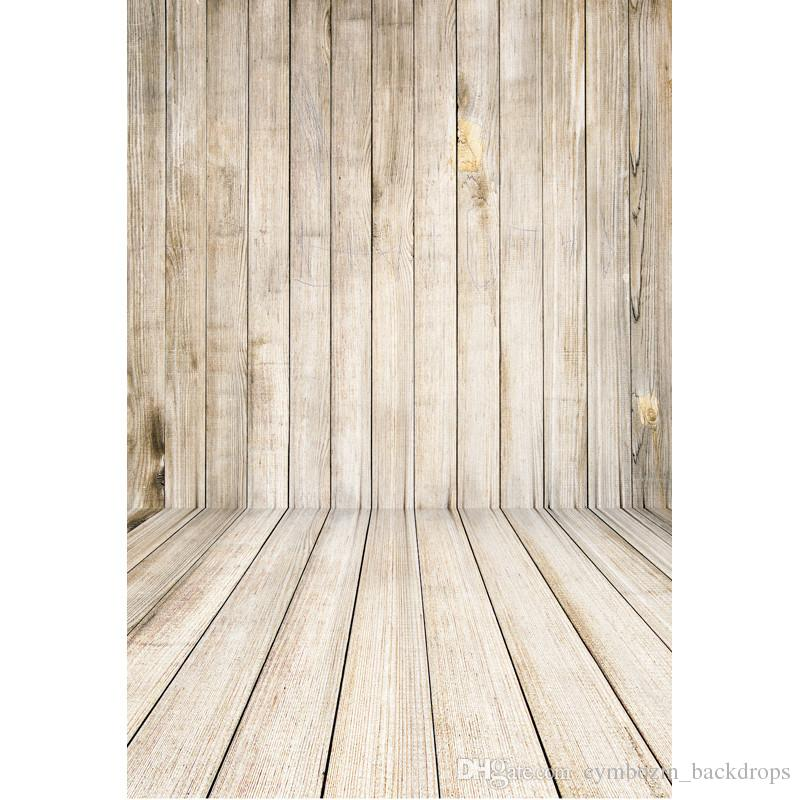 5x7ft Wooden Wall Floor Photography Backdrops Vinyl Fabric Computer Printed Newborn Baby Photo Shoot Backgrounds for Studio