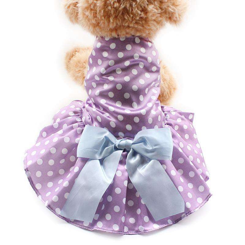 armipet Fashion Dot Purple Dog Dresses Dogs Princess Dress 6071066 Pet Clothes Supplies XS S M L XL