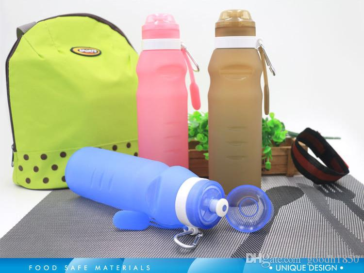 2017 hot folding water bottle,nice and easy use sport and trip drink bottles,three colours