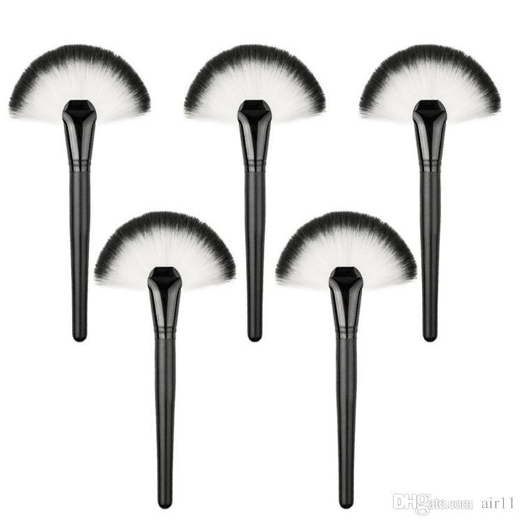 Brosse de maquillage simple pinceau / secteur de poudre pinceau de maquillage professionnel Brosse de pinceau de ventilateur doux pinceaux de maquillage outil 500pcs