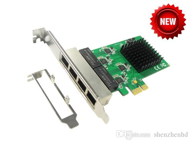 PCI-Express 4 Ports Gigabit Ethernet Controller Card, RTL8111 Chipset, support low profile bracket PCIE to 10/100/1000Mbps