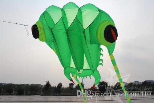 Cerf-volant de sport POWER 3D de 1 mètre 3 de longueur, vert, ligne 1