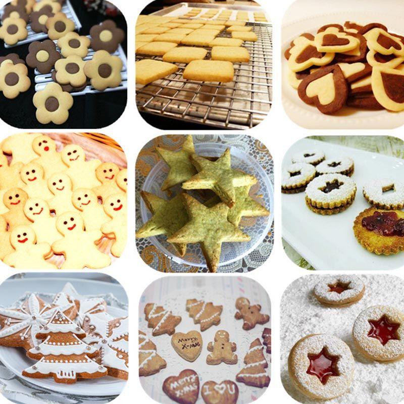 5PCS Cookie Mold Cutting Baking Tools Fondant Cake Cutter Decoration Tools Kitchen Gadgets Love Heart Plum Flower Star Sharpe