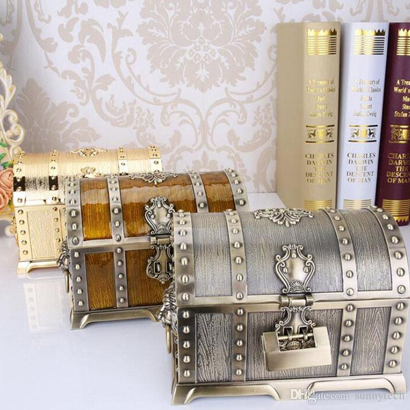 20 * 13 * 12.8 cm en alliage de métal boîte à trésor coffre Vintage maison décoration bijoux cas cadeau d'anniversaire pour un ami ZA4656