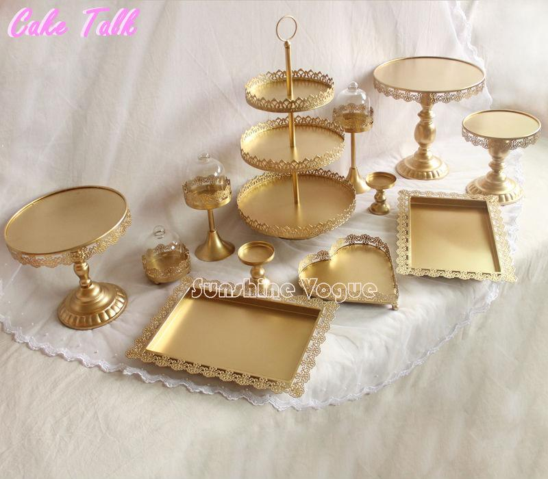 gold cake stand set (9)