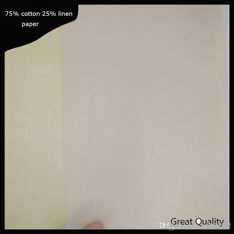 200 sheets Contract printinng paper starch free acid free waterproof types with red and blue fber white color (JQ151121)