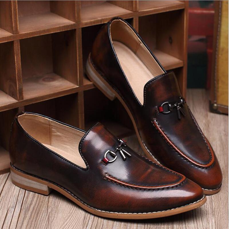2017 uomini appartamenti moda di alta qualità in vera pelle scarpe da uomo, scarpe da uomo affari lace-up, scarpe da uomo vestito, primavera estate Oxfords