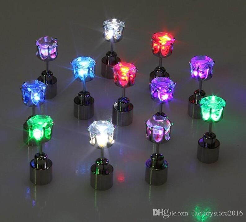 Cadeau de Noël LED Flash Boucles D'oreilles Épingles À Cheveux Stroboscope LED Boucles D'oreilles Strobe LED Lumineux Light up Nightclub Party Boucles D'oreilles