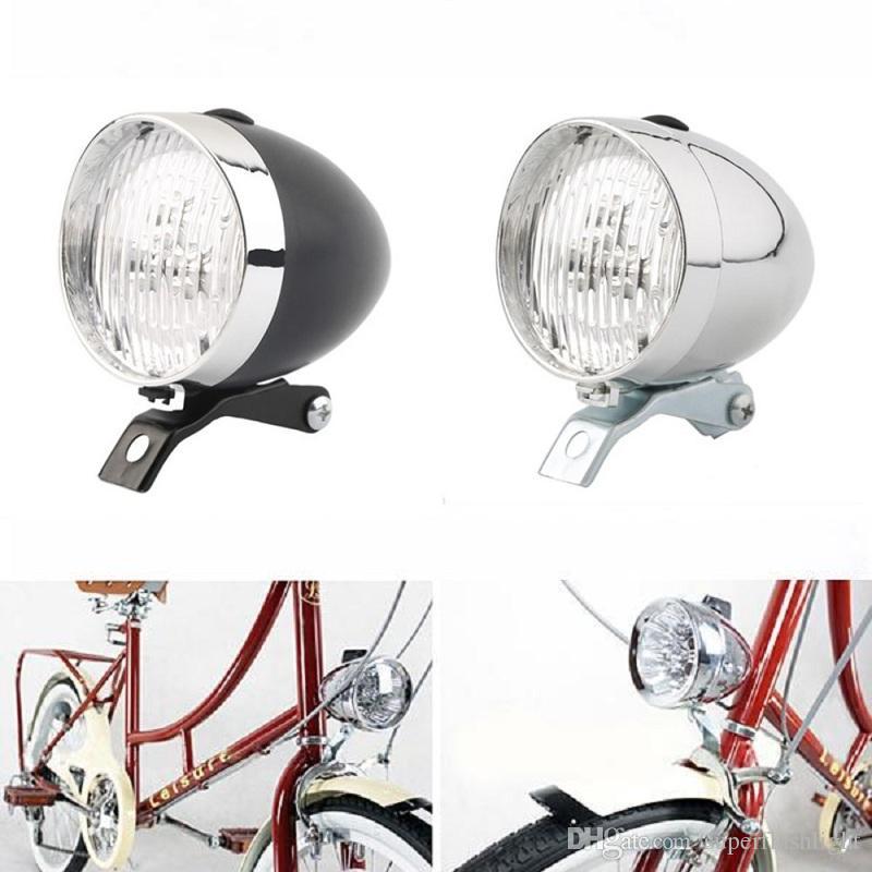 Retro Bicycle Bike 3 LED Front Head Light Headlight Flashlight Lamp Waterproof