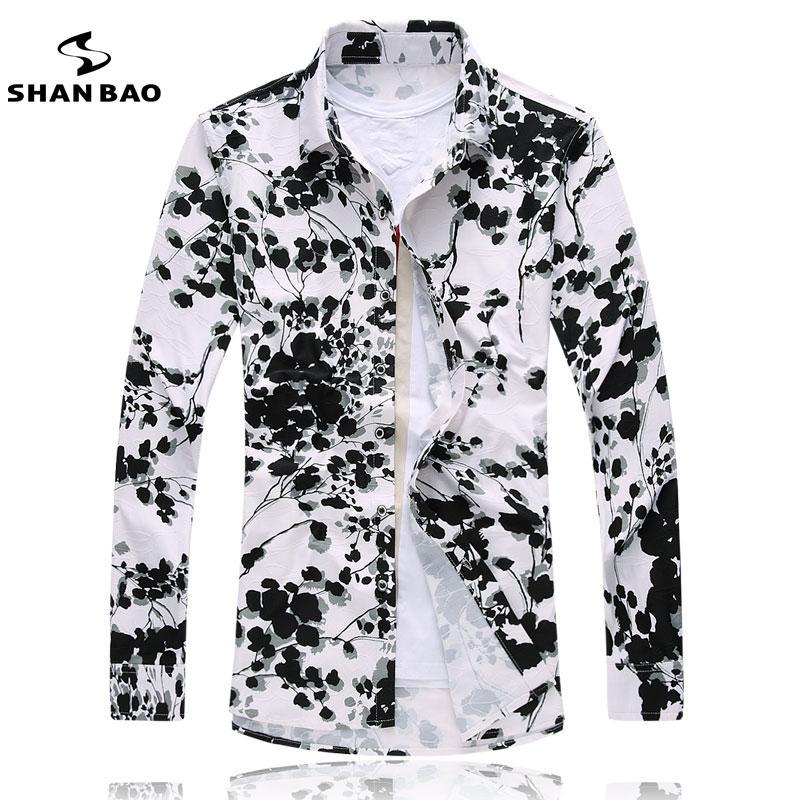 Hochwertige Mercerized Baumwollhemd plus Größe 7XL Männer Business Casual langärmeliges Hemd Slim Druckhemd Marke Männer Kleidung