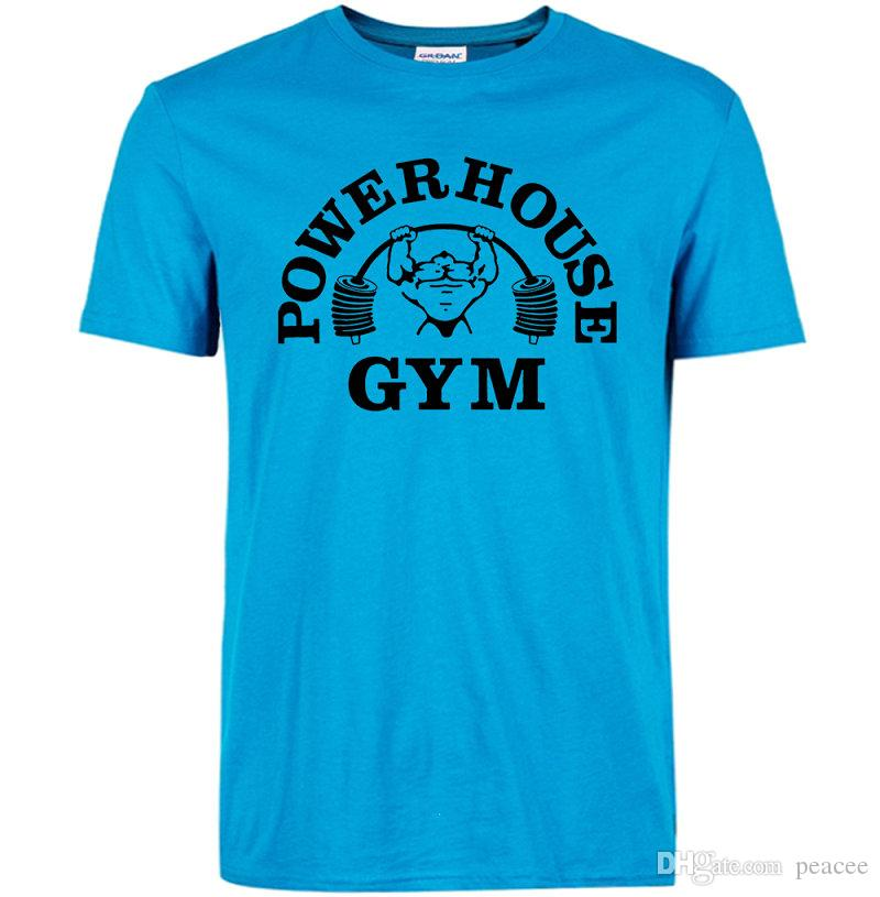 Powerhouse T shirt Gym training clothing Power house cool word tees Leisure unisex short sleeve gown Quality cotton Tshirt