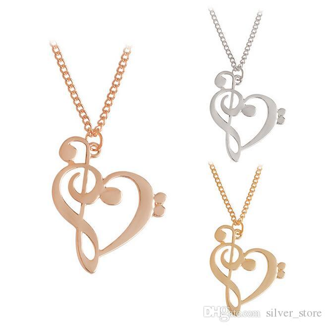 Brand new Fashion love notes necklace hollow heart - shaped notes clavicle chain WFN404 (with chain) mix order 20 pieces a lot