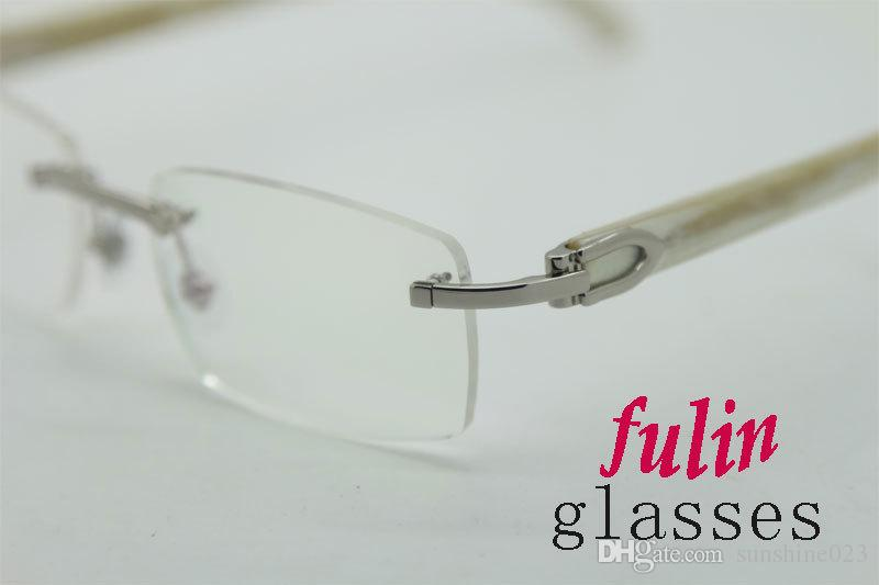 Gafas de lectura de súper calidad para hombres, mujeres, gafas de lectura para computadora, templo blanco, T8100907, tamaño: 54-18-140 mm