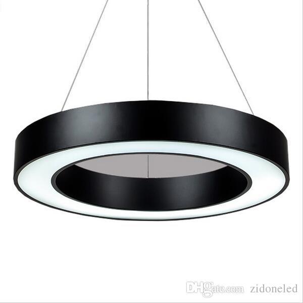 Modern minimalizm alüminyum led kolye lamba ofis asılı aydınlatma armatürleri okul süpermarket garaj için