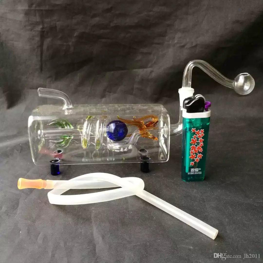El nuevo tubo horizontal del dragón dragón botella de agua Venta al por mayor Bongs de vidrio Quemador de aceite Tubos de vidrio Tubos de agua Plataformas petroleras Fumar Envío gratuito