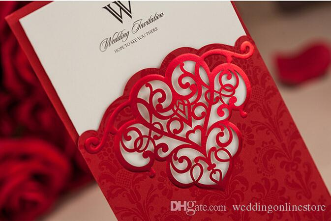 Cheap Custom Personalized Printing Wedding Invitations Cards – Red Party Invitations