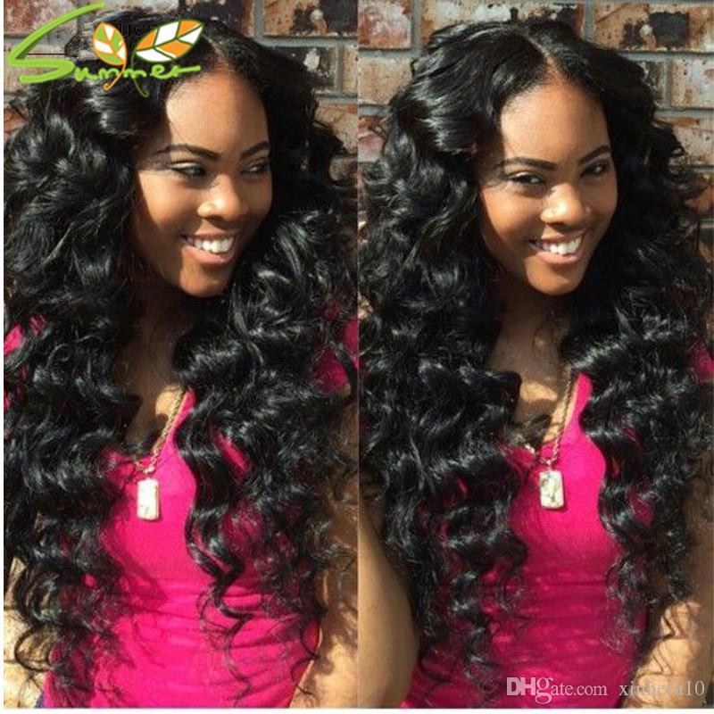 Parrucche 100% non trattate del merletto anteriore dei capelli umani parrucche brasiliane sciolte della parte anteriore del pizzo 8A per le donne nere parrucca piena del pizzo con i capelli del bambino