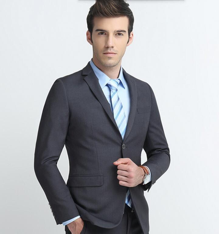 Özel yapılmış erkekler suit klasik erkekler düğün smokin kaliteli suits yaka tek göğüslü balo elbise smokin sağdıç takım (ceket + pantolon)