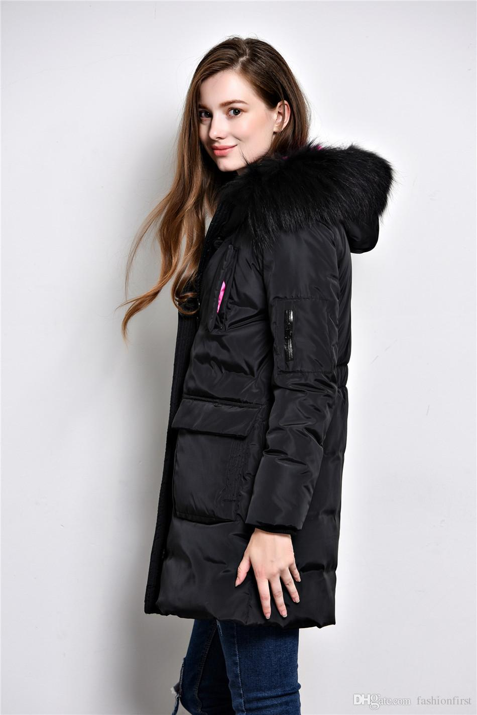 28631e00cae ... High Quality Hood Winter Jacket Lady Hooded Thick White Duck Down Black  Coat Women Winter Ladies ...