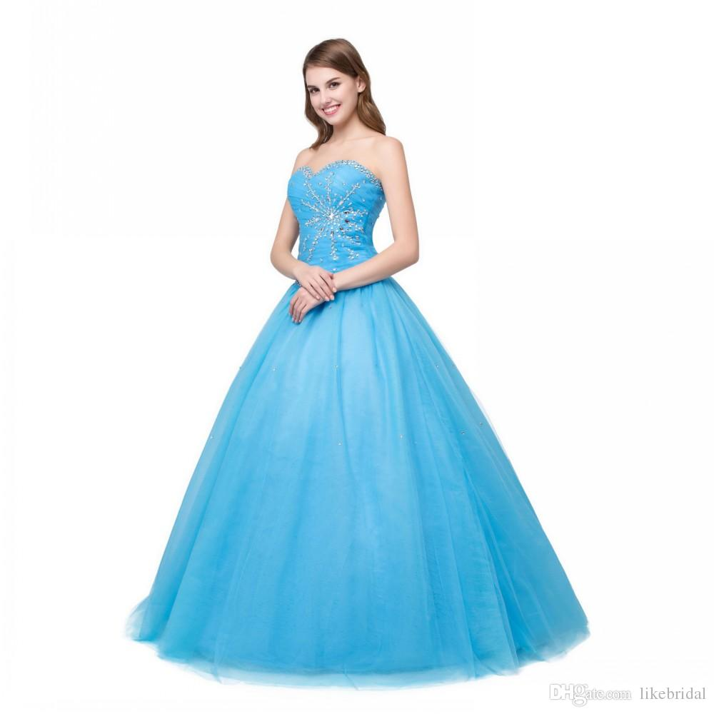 Fashionable Party Gowns Plus Size 2019 Ball Gown Sweetheart Coral Mint Blue  Quinceanera Dress Cheap Sequined Beaded 2019 Tulle Dress Long Cheap ...
