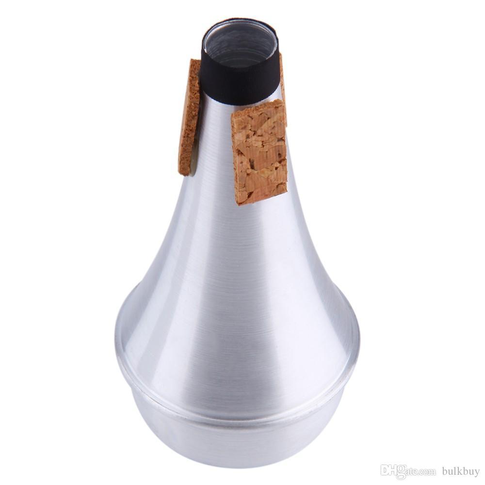 Tromba dritta in alluminio mute per jazz strumenti Practice principiante in lega di alluminio in lega di alluminio mute all'ingrosso