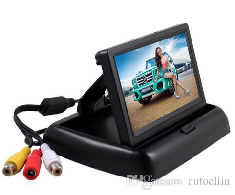 4.3 inch HD Foldable Car Rear View Monitor Reserving Color Digital LCD TFT Display Screen Backup Truck Vehicle RearView Monitors